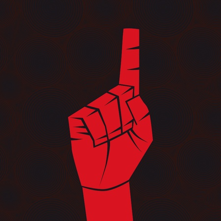 Number one sign. Index finger.Forefinger concept.Vector illustration. Element for design. Vector