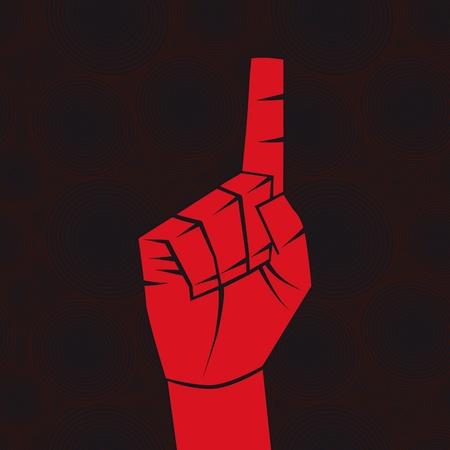 �ndice: Number one sign. Index finger.Forefinger concept.Vector illustration. Element for design.