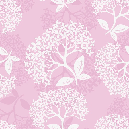 Flower pattern seamless background with hydrangea, element for design, vector illustration