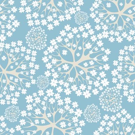 Flower pattern seamless background, element for design, vector illustration Stock Vector - 9519184