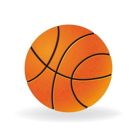 baloncesto: Bola para jugar la ilustraci�n vectorial juego de baloncesto, aislado sobre fondo blanco