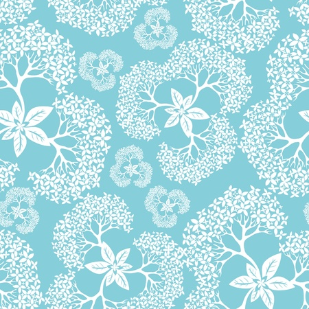 Flower pattern seamless background with hydrangea, element for design, vector illustration Vector
