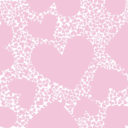 Abstract background, pink pattern heart seamless vector texture. Valentine day illustration. Cute graphic art wallpaper. Romantic ornament. Stock Vector - 9633625