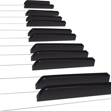 Piano background, piano keys. Vector illustration. Vector