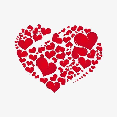 lovestruck: Abstract red heart. Valentine Day love background,element for design, vector illustration.