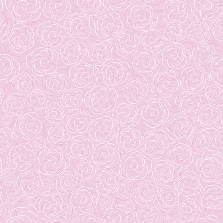 Pink vector rose seamless flower background pattern, floral vintage illustration. Cute backdrop. Stock Vector - 9770266