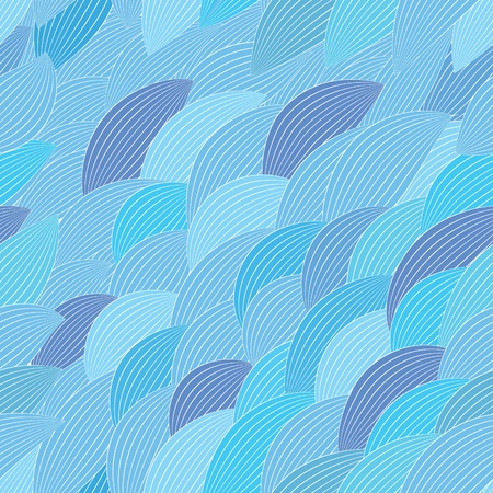 Blue abstract seamless pattern. Water texture. Wave wallpaper Vector