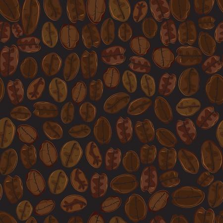 coffee crop: Seamless coffee bean wallpaper. Pattern, background.