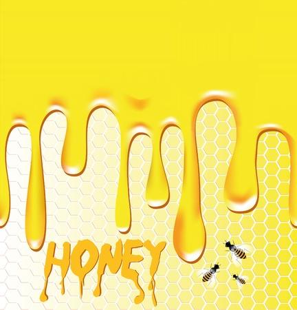 dense: Honey background. Honeycomb, bee, wax. Design element. Viscous liquid. Illustration