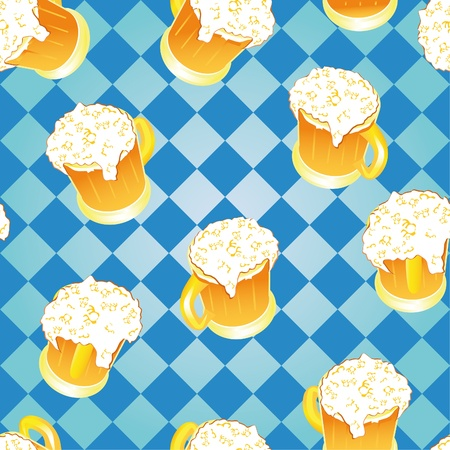 Oktoberfest background. Bavarian pattern.  Vector