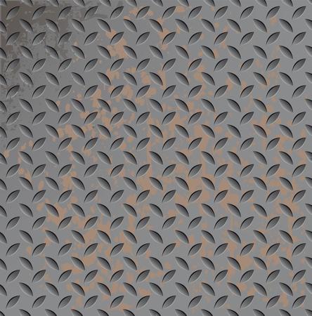 Abstract metal texture seamless. Titanium pattern. Metallic rusty illustration. Stock Vector - 10014609