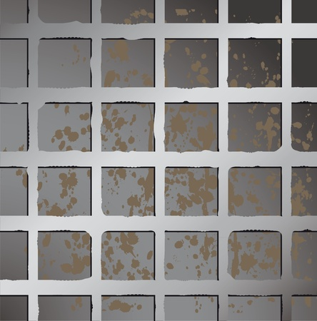 Metal texture seamless wallpaper. Metallic square fence background. Rusty backgrop. Stock Vector - 10014608