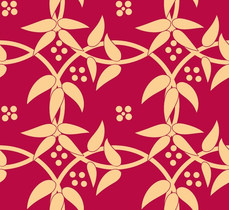 arabesque antique: Retro seamless background. Vintage circle  wallpaper.  Illustration