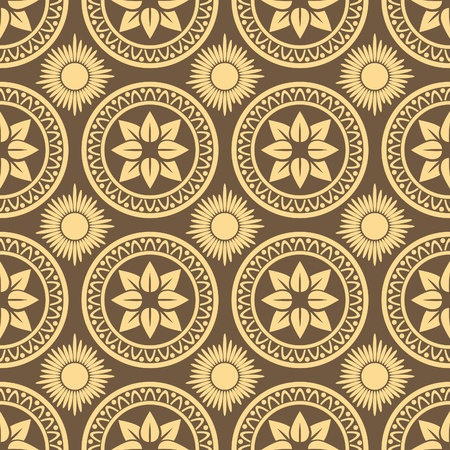 Retro seamless circle background. Vintage wallpaper.  Stock Vector - 10014598