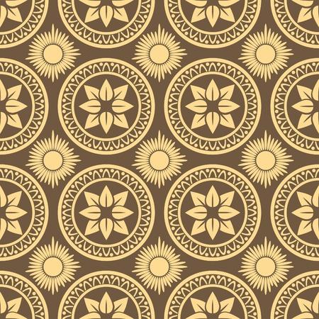 Retro seamless circle background. Vintage wallpaper. Stock Vector - 10014598