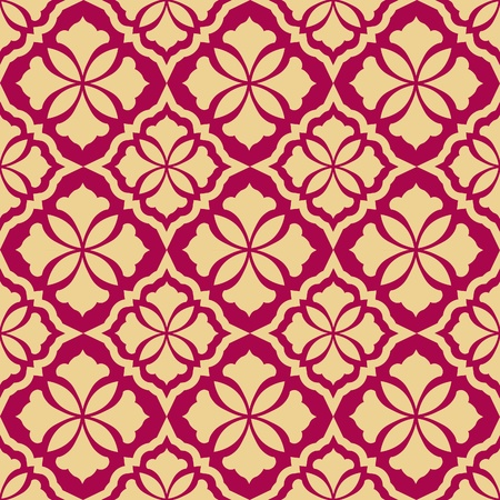 Retro seamless background. Vintage wallpaper. Texture royal illustration. Pattern baroque style. Vector