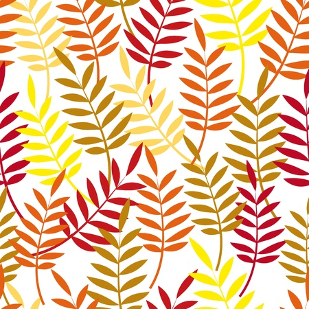 Autumn background. Leaves seamless pattern. Vector leaf. Foliage wallpaper. Stock Vector - 10282122