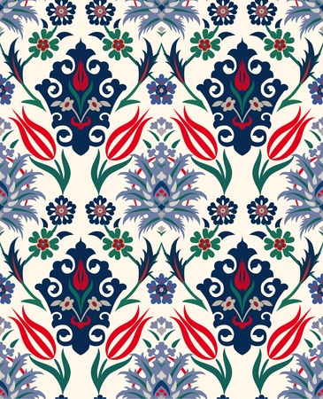 Abstract retro seamless floral background. Paper textile. Vintage wallpaper. Texture royal vector. Pattern flower. Fabric floral illustration. Stock Vector - 10282123