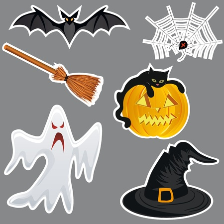 spider net: Halloween stickers Illustration