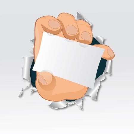 hand, tear paper. Advertise illustration. EPS10 Stock Vector - 10336071