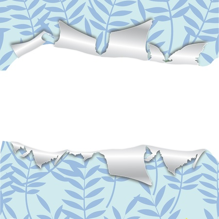 Art leaves pattern. Seamless background, torn texture. Floral wrapping vintage. Wallpaper.