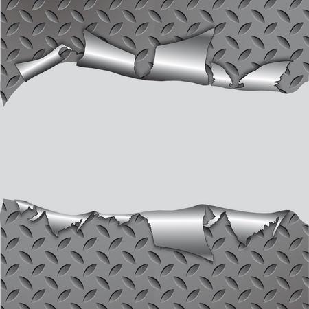 on metal: Abstracto rasgado metal textura perfecta. Patr�n met�lico de aluminio. Vectores