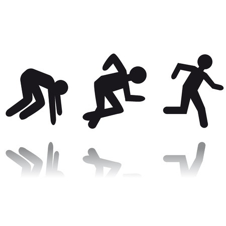 Running man icon. Person run. Career target. Vector