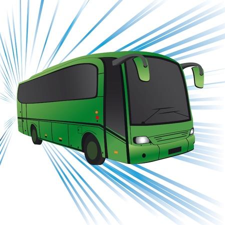 Green bus   Stock Vector - 10366774
