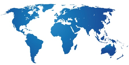 world map blue: Detailed world map. Accurate background.