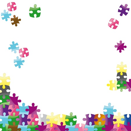 Vector jigsaw puzzle connection background. Abstract vector illustration. Illustration