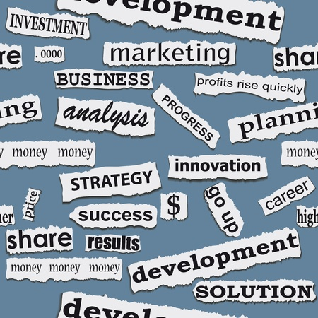 news headlines: Seamless business paper torn piece background. word opportunity career illustration.