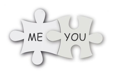 Papier puzzel als liefde symbool. Leuke valentijn achtergrond.
