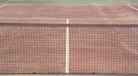 Tennis sport court with net. Field for training or competition game. Stock Photo - 11069126