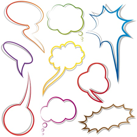 Speech and thought bubble. Dialog cloud. Elements for design. Stock Vector - 11069122