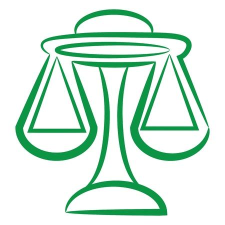 Sternzeichen Waage Logo, Symbol Skizze Stil Tattoo Maßstab isoliert auf weißem Hintergrund. Lizenzfreie Bilder - 11530399