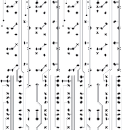 Network scheme. Electronic texture. Circuit board, technology, white technology, seamless background Vector