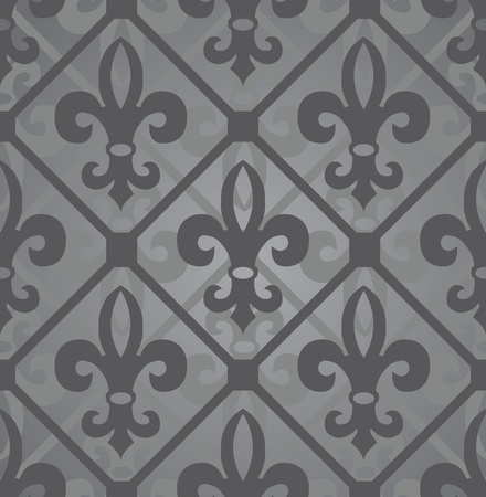 Dark royal pattern. Seamless wallpaper. Retro background Vector