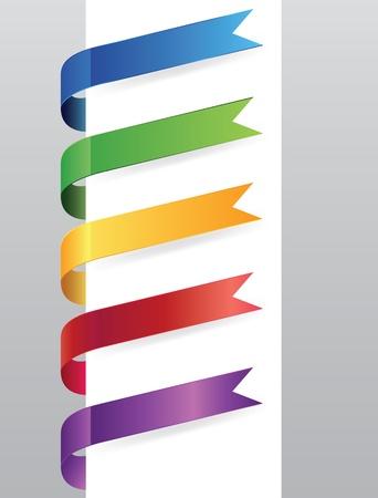 hot announcement: Conjunto de etiquetas de papel, elemento curvado para el dise�o, ilustraci�n vectorial