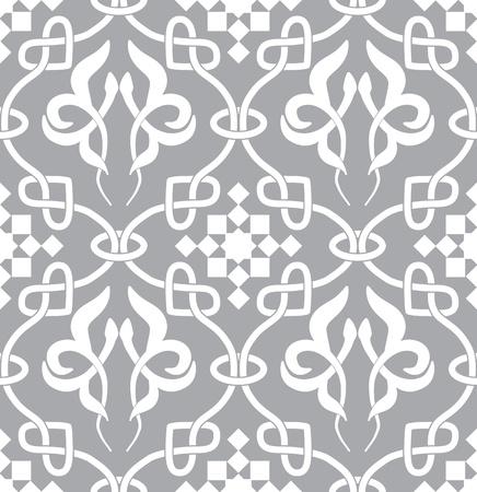arabesque: Retro de fondo sin fisuras. Vintage keltik irlandesa fondo de pantalla. Textura ilustraci�n vectorial. Patr�n celta estilo. Vectores