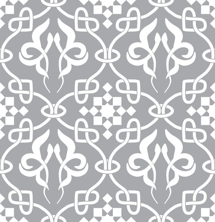 arabesque: Retro seamless background. Vintage keltik Irish wallpaper. Texture vector illustration. Pattern celtic style.