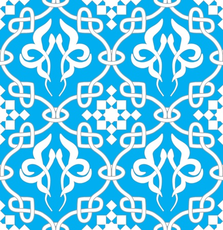 gaelic: Retro seamless background. Vintage keltik Irish wallpaper. Texture vector illustration. Pattern celtic style.