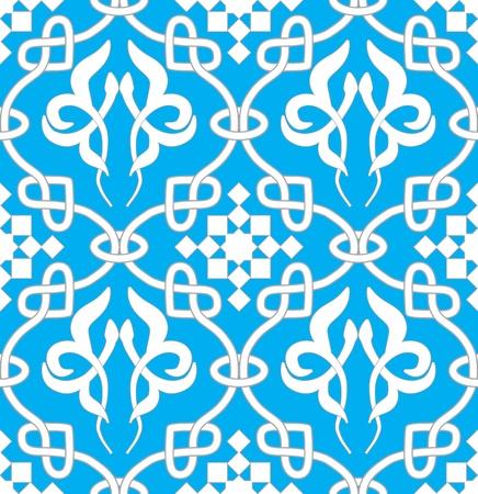 arabesque wallpaper: Retro sfondo trasparente. Vintage keltik irlandese carta da parati. Texture illustrazione vettoriale. Modello stile celtico. Vettoriali