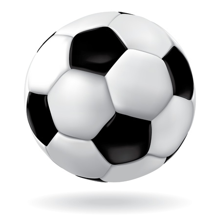 Leather soccer ball icon. Vector footbal sport object. Game illustration. Vector