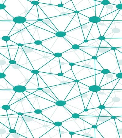 Neurona red, icono del vector web. Diagrama de red, sistema de red. De fondo sin fisuras.
