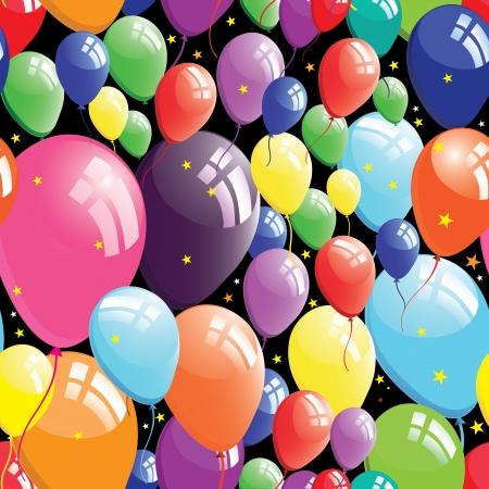 El fondo del globo, cumpleaños perfecta, el círculo estrella de elemento de diseño, ilustración vectorial.