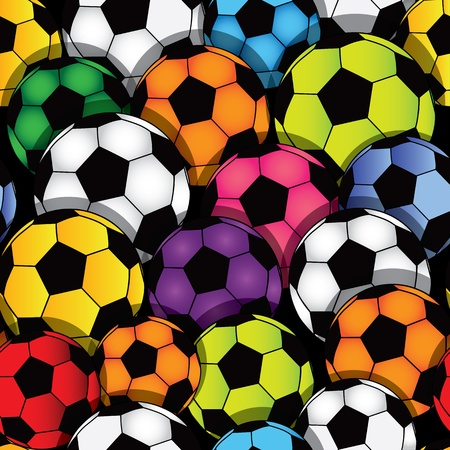 leather stitch: Vector seamless soccer texture  Football wallpaper  Sport background  Illustration
