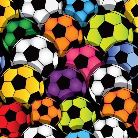 Vector seamless soccer texture  Football wallpaper  Sport background Stock Vector - 12492983