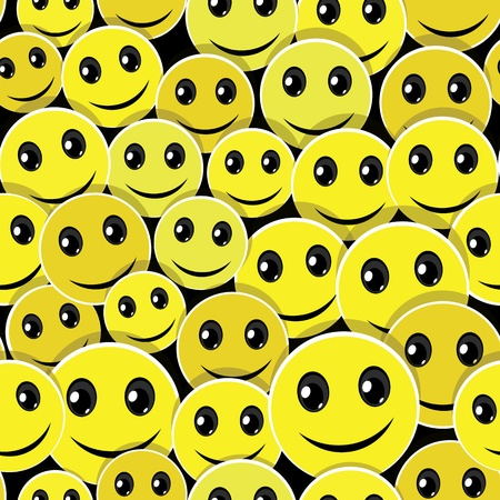 amiable: Smile face icon seamless pattern background  Vector illustration  Have a nice day   Element for design