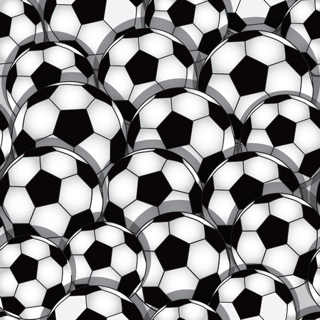 Vector seamless soccer texture. Football wallpaper. Sport background. Vector