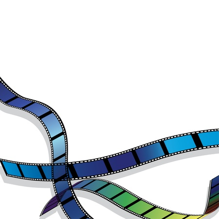 filmroll: Film for photo or video record strip frame. Movie background vector illustration